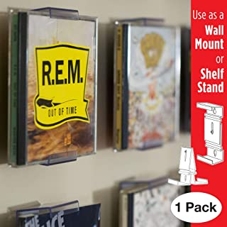 CollectorMount CD Mount Wall Frame Display and Shelf Stand, Invisible and Adjustable, 1 Pack