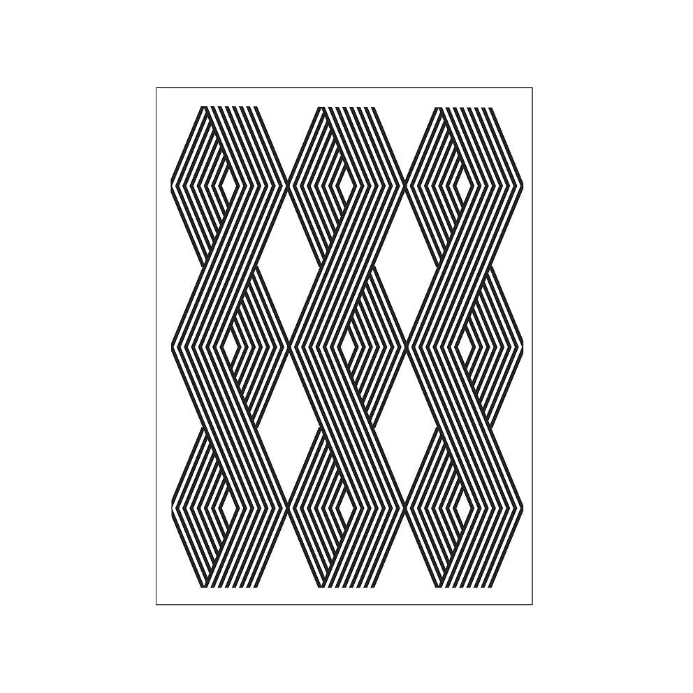 Darice Embossing Folder A6, Template Vertical Cable Print Pattern, Transparente