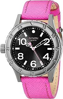 Nixon Women's A4672049 38-20 Leather Analog Display Analog Quartz Watch