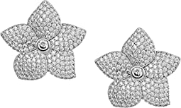 Blooming Pave Bloom Statement Studs Earrings