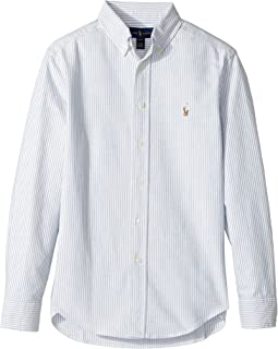 Polo Ralph Lauren Kids - Striped Cotton Oxford Shirt (Big Kids)