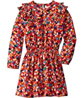 Stella McCartney Kids - Long Sleeve Geometric Print Dress with Ruffles (Toddler/Little Kids/Big Kids)