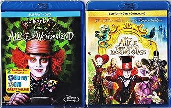 Disney's Alice in Wonderland Starring Johnny Depp Blu-ray Double Feature - Alice in Wonderland (Blu-ray DVD Combo) & Alice Through the Looking Glass (Blu-ray DVD Digital HD)