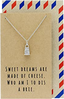 Quan Jewelry Gifts for Mom, Funny Gifts, Cheese Grater Necklace on Funny French Quote Card, Birthday, Valentines Presents