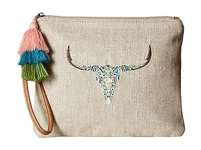 Sakroots Artist Circle Ariel Zip Pouch (Natural Mojave Mirage) Tote Handbags
