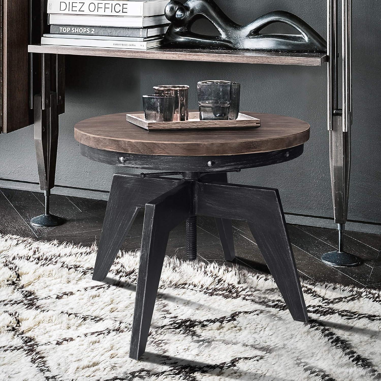 Armen Living Dayton Coffee Grey Table Elegant Industrial Cheap sale