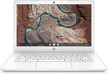 HP Chromebook 14-inch Laptop with 180-degree Hinge, Full HD Screen, AMD Dual-Core A4-9120 Processor, 4 GB SDRAM, 32 GB eMMC Storage, Chrome OS (14-db0050nr, Snow White)