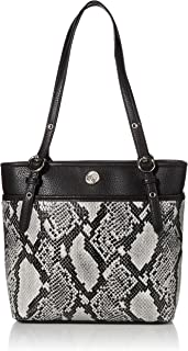 Anne Klein Snake Pocket Tote