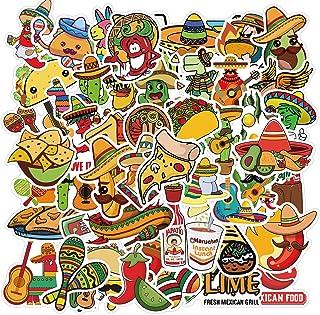 DUANG 100PCS Mexican Food Stickers Cute Food Stickers Vinyl Waterproof Stickers for Water Bottle Fridge Computer Laptop De...
