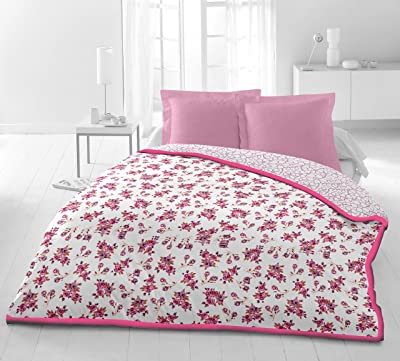 Elite Double Dohar Reversible 100% fine Cotton | Size: 220X248 cm | Colour: Pink EL116