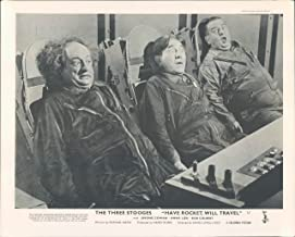 HAVE ROCKET WILL TRAVEL ORIGINAL BRITISH LOBBY CARD THE THREE STOOGES MO CURLY