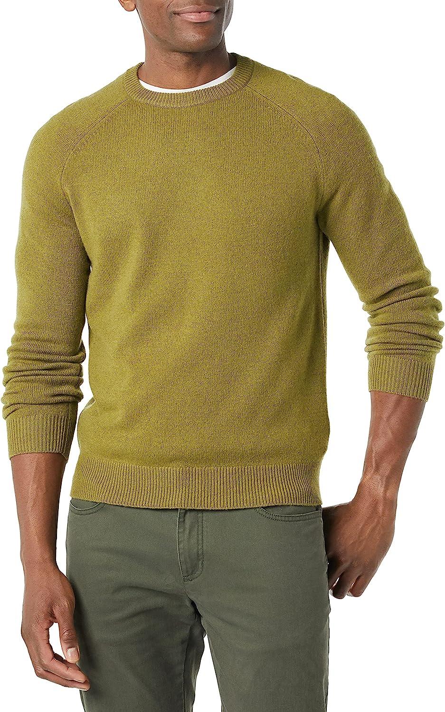 1960s Mens Shirts | 60s Mod Shirts, Hippie Shirts Amazon Brand - Goodthreads Mens Lambswool Crewneck Sweater  AT vintagedancer.com