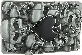 Ace of Spades and Skulls Belt Buckle