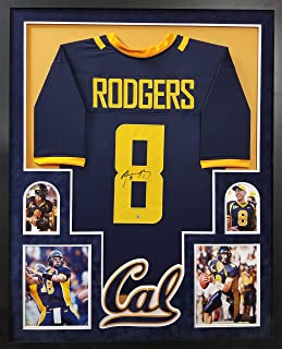 Aaron Rodgers California Golden Bears Autograph Signed Custom Framed SUEDE MATTED Steiner Sports Certified