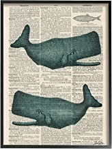 Stupell Home Décor Classic Novel Whales Oversized Framed Giclee Texturized Art, 16 x 1.5 x 20, Proudly Made in USA