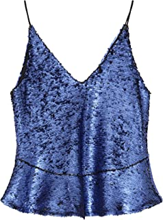 Bimba y Lola Women Purple Sequins top 192BR2072