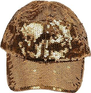 Women's Fashion Sequined Sparkle Baseball Cap Hat