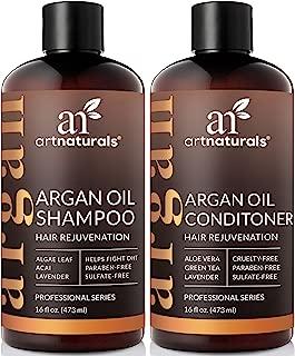 ArtNaturals Moroccan Argan Oil Hair Loss Shampoo & Conditioner Set - (2 x 16 Fl Oz) - Sulfate Free Hair Regrowth - Treatment for Hair Loss