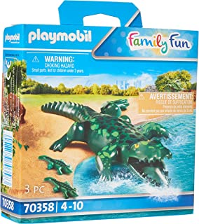 Playmobil Alligator with Babies, colourful