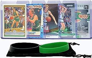 Larry Bird Basketball Cards Assorted (5) Bundle - Boston Celtics Trading Card Gift Pack
