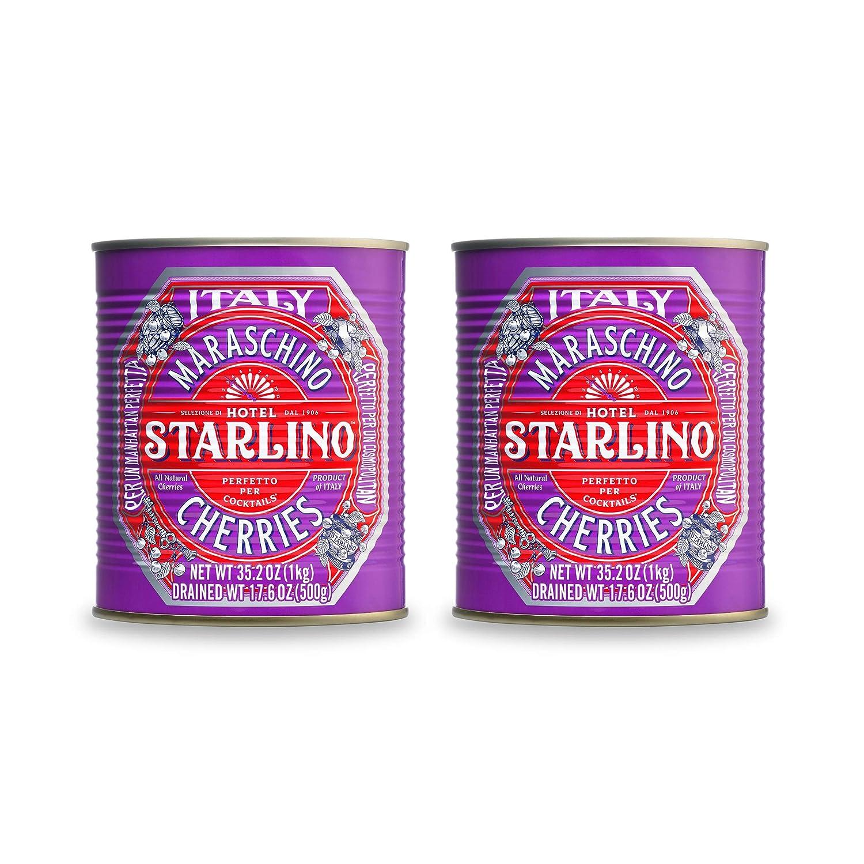 Hotel Starlino Italian Maraschino Cherries   All-Natural   Glute