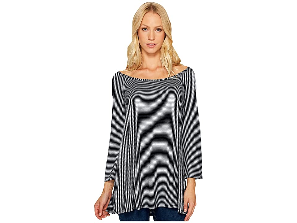 Three Dots 3/4 Sleeve Top (Night Iris) Women