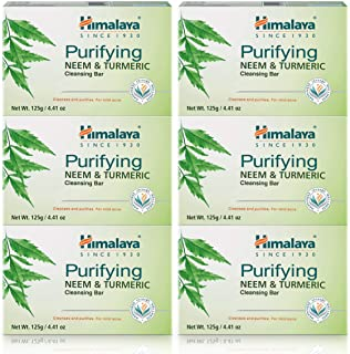 Himalaya Purifying Neem & Turmeric Cleansing Bar, Face and Body Soap for Soft, Clear..