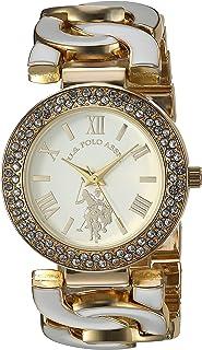 U.S. Polo Assn. Women's Analog-Quartz Watch with Alloy Strap, White, 23 (Model: USC40266AZ)