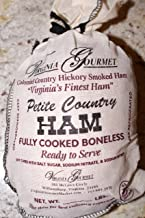 Virginia Colonial Country Ham-Cooked Boneless Southern Cured Virginia Ham-3.0-3.9 pounds. Petite Ham Cooked, Dry Cured, De-boned, & Ready to Serve.(serves 20-30 ppl)