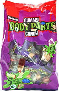 Frankford Candy Company Gummy Body Parts, Assorted Fruit, 60 Count