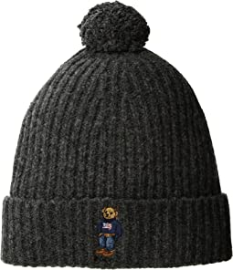 Polo Ralph Lauren - American Flag Bear Cuff Hat with Pom