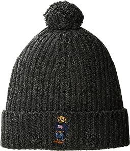 Polo Ralph Lauren - American Flag Bear Cuff Hat with Pom