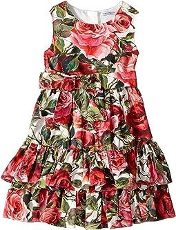 Dolce & Gabbana Kids - Floral Poplin Dress (Toddler/Little Kids)