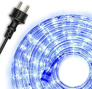 Nipach GmbH 10m 240 LED lichtslang blauw - binnen en buiten - energiebesparende verlichting decoratie voor tuin feest Kers...