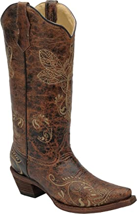 f5dd55566e6f Corral Women s Circle G Distressed Bone Dragonfly Embroidered Western Boot