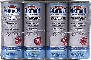 Ultrasac Platinum ULP 013009040 Kitchen Drawstring Trash Bags, 13 gal, Tall (Pack of 480)