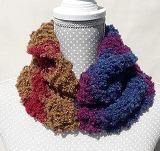 scaldacollo donna in misto lana buclè multicolor