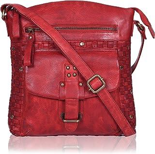 Sponsored Ad - Genuine Leather Crossbody Sling bag for Women Fancy & Stylish Bags for Girls