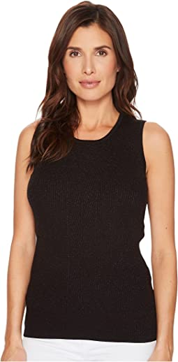 Sleeveless Sweater Knit Lurex Top