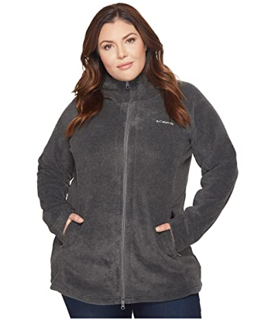 Columbia Plus Size Benton Springstm II Long Hoodie (Charcoal Heather) Women