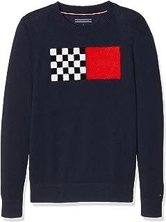 Tommy Hilfiger Ame Fun Towelling CN Sweater Pull Garçon