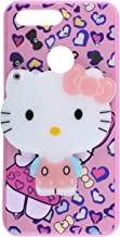 Indiacase Kitty Oneplus 5T Mirror Kitty Case Soft Silicone Printed Cute 3D Mirror Hello Kitty Girls Back Case Cover for Oneplus 5T Pink