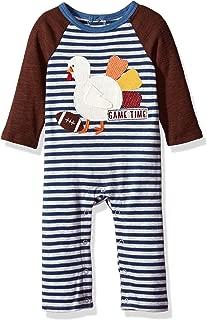 Mud Pie Baby Boys' Thanksgiving Turkey Long Sleeve Raglan One Piece Playwear
