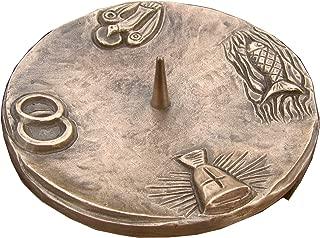 Wilde Kunstgusshandel chandelier bougeoir bapt/ême 4 symbole 12 cm bronze noble patine marron