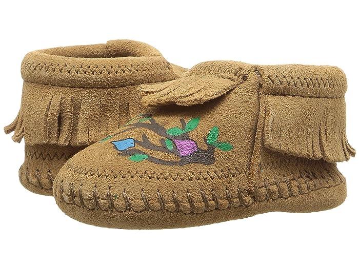 60s 70s Kids Costumes & Clothing Girls & Boys Minnetonka Kids Free Range Mama We Are Family Infant Taupe Kids Shoes $46.95 AT vintagedancer.com