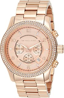 Michael Kors Womens Quartz Watch, Chronograph Display and Stainless Steel Strap MK5576
