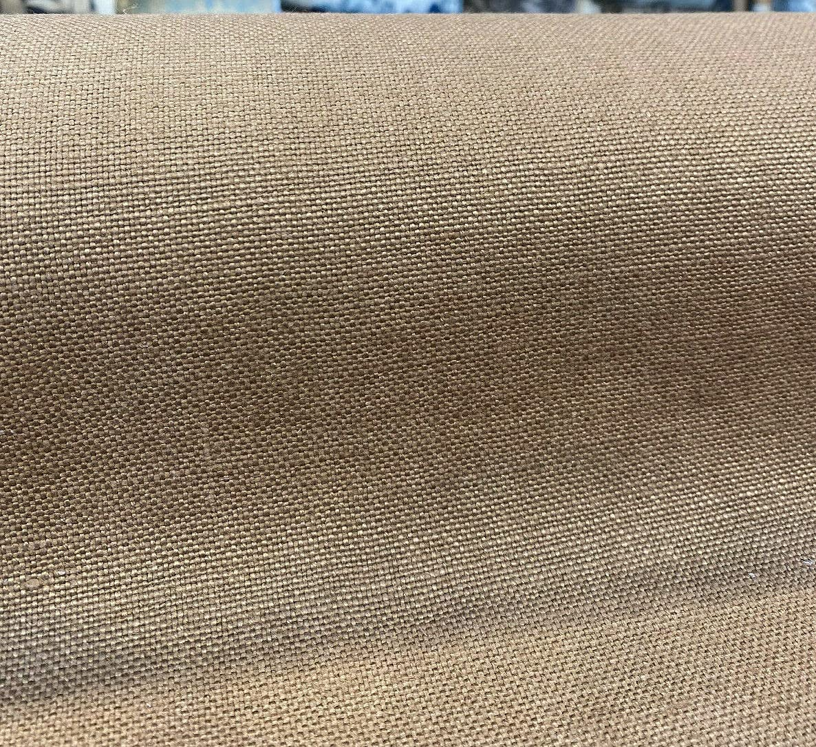100% specialty shop Belgian Linen Libeco Chalet Sepia the By Fabric OFFicial site Brown Yard