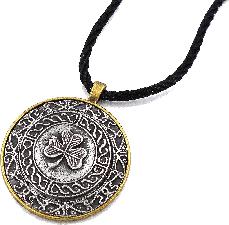 Irish Mullingar Pewter  Shamrock Pendant Necklace