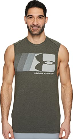 Graphic Muscle Tank Top