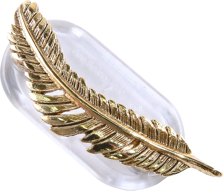 Magcessory Feather Boutique Eyeglass Holder, Scarf Holder Magnet, Gold